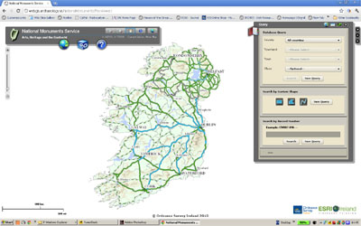 Creating distribution maps in the Irish National Monuments Map ...