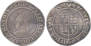 A shilling coin of Elizabeth I