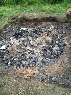 UCD Centre for Experimental Archaeology fire-pit.