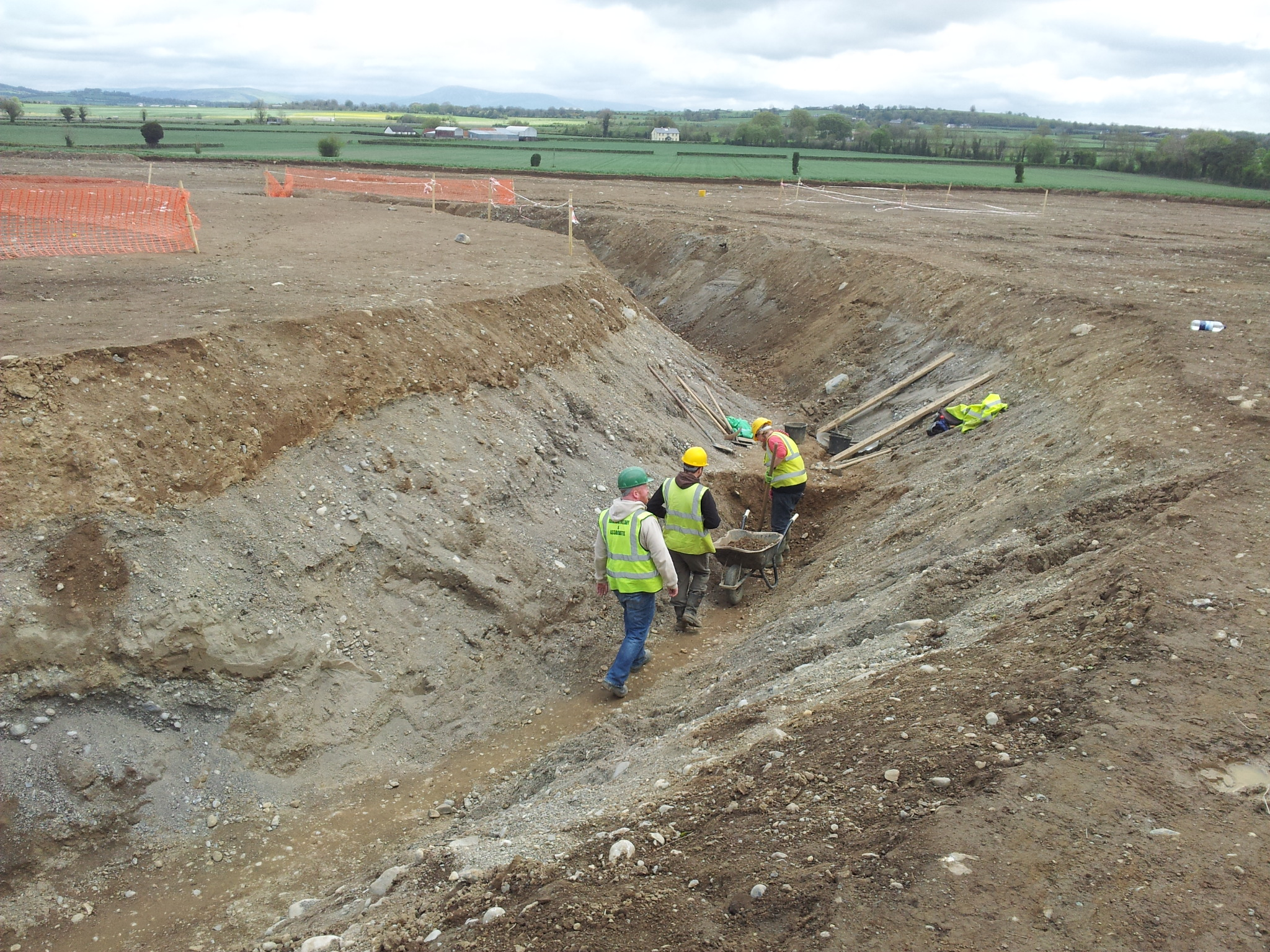 Excavating the iner ditch at Ballyburn Upper, Co. Kildare