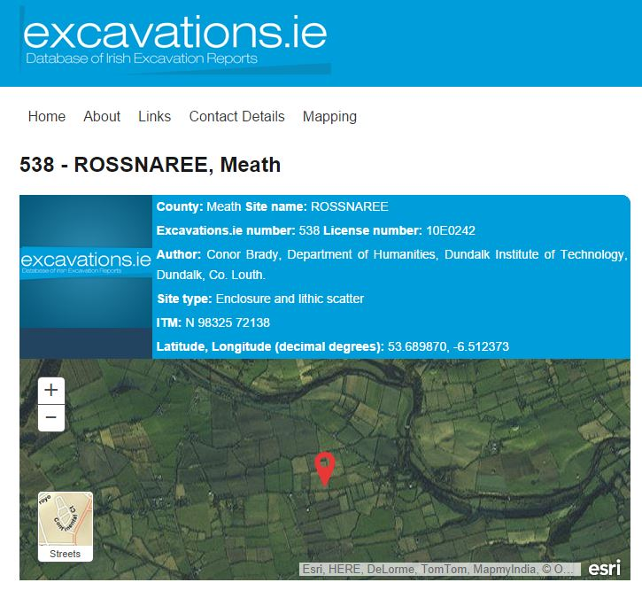 Excavations.ie mapping